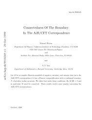 arXiv:hep-th/9910245 v1 29 Oct 1999