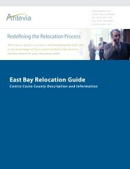 Relocation Guide - Contra Costa County Overview - Antevia