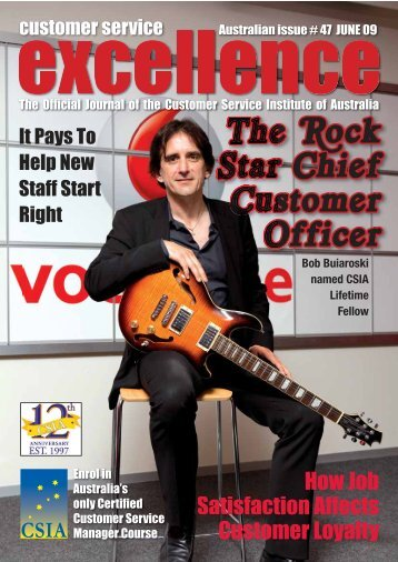 The Rock Star Chief Customer Off icer - Customer Service Institute of ...