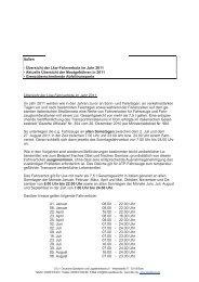 Italien - Übersicht der Lkw-Fahrverbote im Jahr 2011 - Aktuelle ...