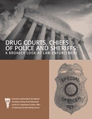 Drug Courts, Chiefs of Police and Sheriffs: A Broader Look at Law ...