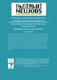 D10.6-Comparing Labour Supply Elasticities in Europe ... - Neujobs