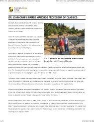 R-MC :: Dr. John Camp II Na... - Stavros Niarchos Foundation