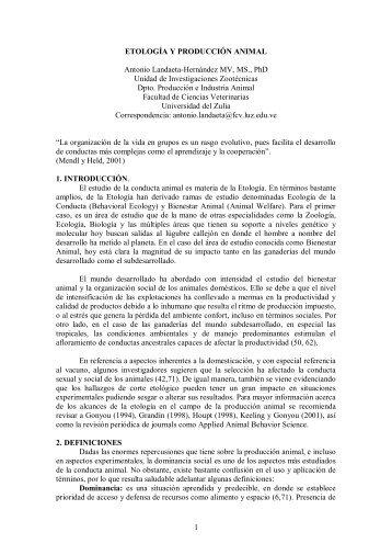 ETOLOGIA Y BIENESTAR ANIMAL - gadema.org