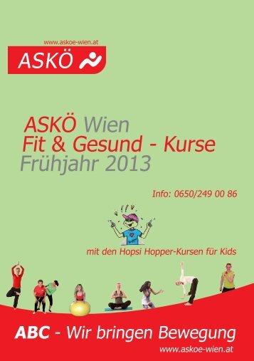 ASKÖ Wien Fit & Gesund - Kurse Frühjahr 2013