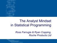 The Analyst Mindset in Statistical Programming - PhUSE Wiki