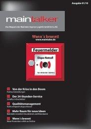 MainTalker 01/2010 - Maintaler Express Logistik GmbH & Co. KG