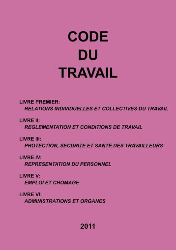CODE DU TRAVAIL - ferronfred.eu