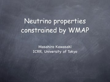 l - US-Japan seminar on Double Beta Decay and Neutrino Mass
