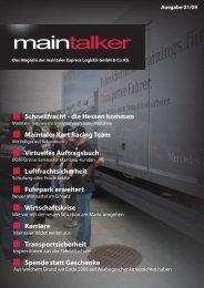 MainTalker 01/2009 - Maintaler Express Logistik GmbH & Co. KG
