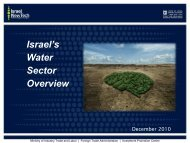 Israel's Water Sector Overview - Invest in Israel