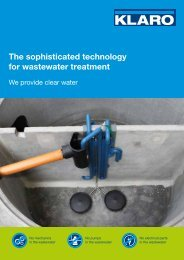 The sophisticated wastewater treatment system ... - KLARO GmbH