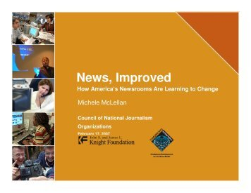 News, Improved Council of National Journalism Organizations