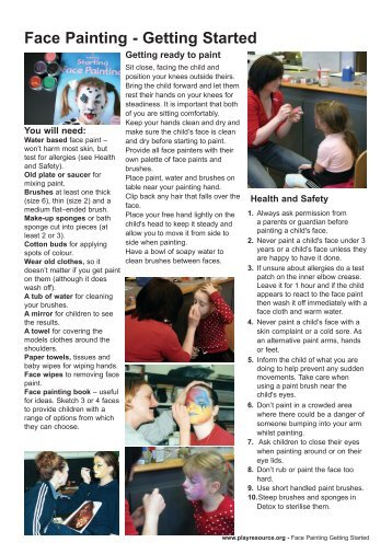 Face Painting - Getting Started - Play Resource