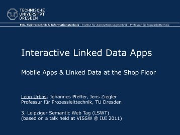Interactive Linked Data Apps - AKSW
