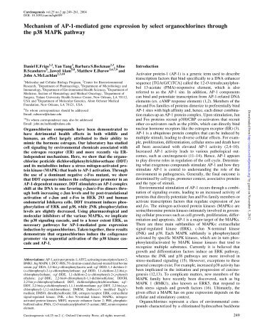 Mechanism of Ap-1-mediated gene expression by ... - Carcinogenesis
