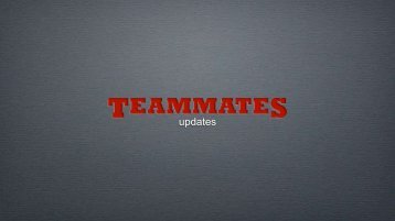 updates - TeamMates