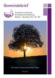 Gemeindebrief - Mainburg Evangelisch
