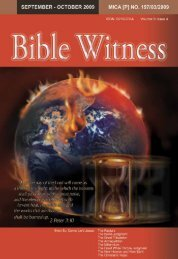 Even So, Come, Lord Jesus - Bible Witness Media Ministry