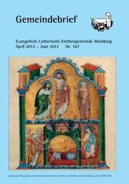 feiern · singen · beten · hören Himmelfahrt - Mainburg Evangelisch