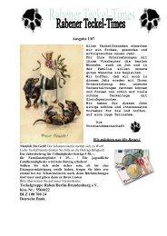 Ausgabe 1/07 - Teckelgruppe Raben