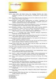 Literaturliste zu Spirit of Energy (PDF-Format) - Landsiedel NLP ...