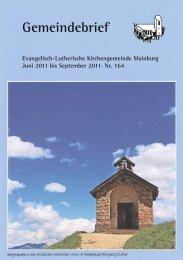 feiern · singen · beten - Mainburg Evangelisch