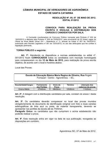 Resolucao 05 - Comisso - Ensalamento - IOBV