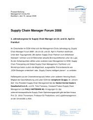 Supply Chain Manager Forum 2008