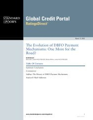 The Evolution of DBFO Payment Mechanisms: One More for the ...