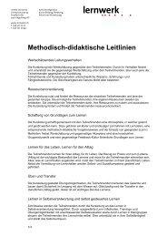 Methodisch-didaktische Leitlinien - Lernwerk