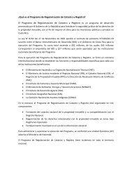 ¿Qué es el Programa de Regularización de Catastro y Registro? El ...