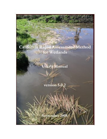 California Rapid Assessment Method for Wetlands - State Water ...