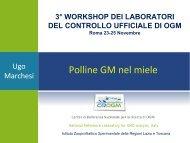Polline GM nel miele. - (IZS) delle Regioni Lazio e Toscana