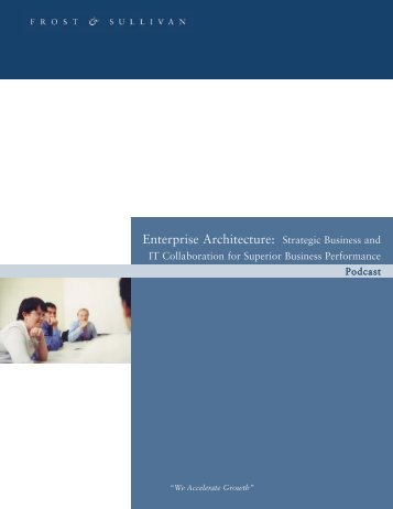 Enterprise Architecture Podcast:market Insight Template v4.0
