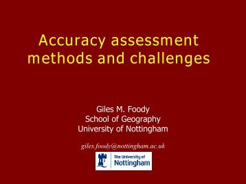 Accuracy assessment methods and current challenges