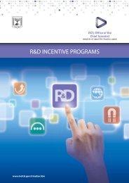 R&D INCENTIVE PROGRAMS