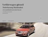 Aktuelle Vorführwagen - Mercedes-Benz Niederlassung Mainfranken