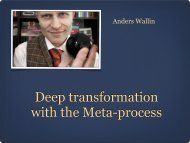Deep transformation with the META-process (Anders Wallin) - EANLPt
