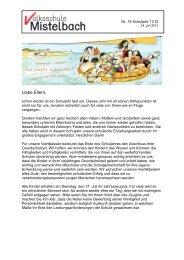 Liebe Eltern, - Volksschule Mistelbach