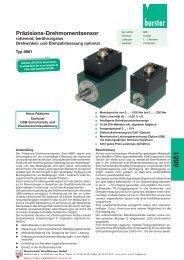 burster-Drehmomentsensor Serie 8661 - Industrie-Schweiz