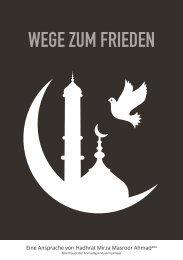 Wege zum Frieden - Ahmadiyya Muslim Jamaat Deutschland