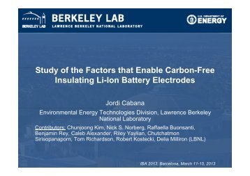 St d fth F t th tE bl C b F Study of the Factors that Enable Carbon ...