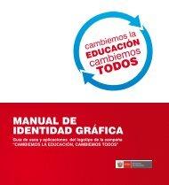 manual de identidad gráfica - La Educación Básica Regular - EBR