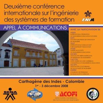 Appel à communications - Réseau Carthagène d'Ingénierie - Ecole ...