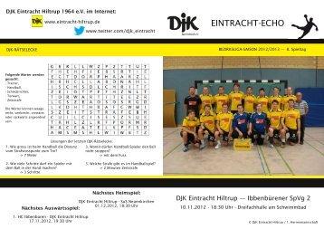 Ausgabe 4: 8. Spieltag, Saison 2012/2013 - DJK Eintracht Hiltrup
