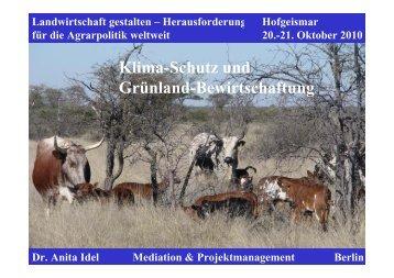 Klima-Schutz und Grünland-Bewirtschaftung