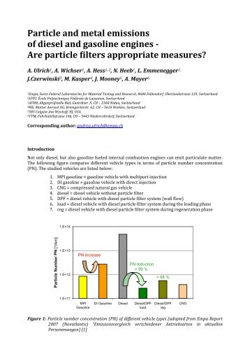 Particle and metal emissions of diesel and gasoline engines ... - ExIS