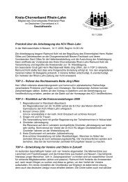 Protokoll der Arbeitstagung 2009 - des Kreis-Chorverbandes Rhein ...