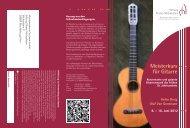 Meisterkurs für Gitarre - Musik im Kloster Michaelstein - Stiftung ...